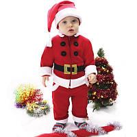 Костюм на новый год Санта наряд новогодний на размер 74 80 86 92 98 104