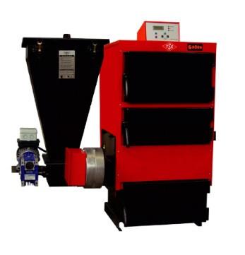 Стальной трехходовой твердотопливный котел с автоматической подачей топлива RODA RK3G/S-40 кВт (РОДА )