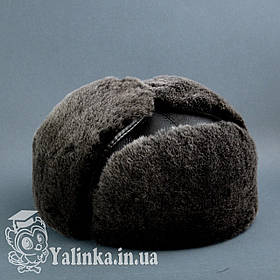 "Шапка-ушанка ""Шестиклинка"" овчина натуральный мех"