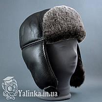 "Шапка-ушанка ""Шестиклинка"" овчина натуральный мех , фото 2"
