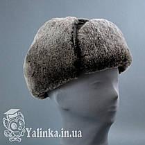 "Шапка-ушанка ""Шестиклинка"" овчина натуральный мех , фото 3"