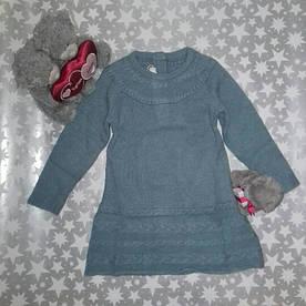 Платье вязаное голубое Chicco р.80 (15мес)