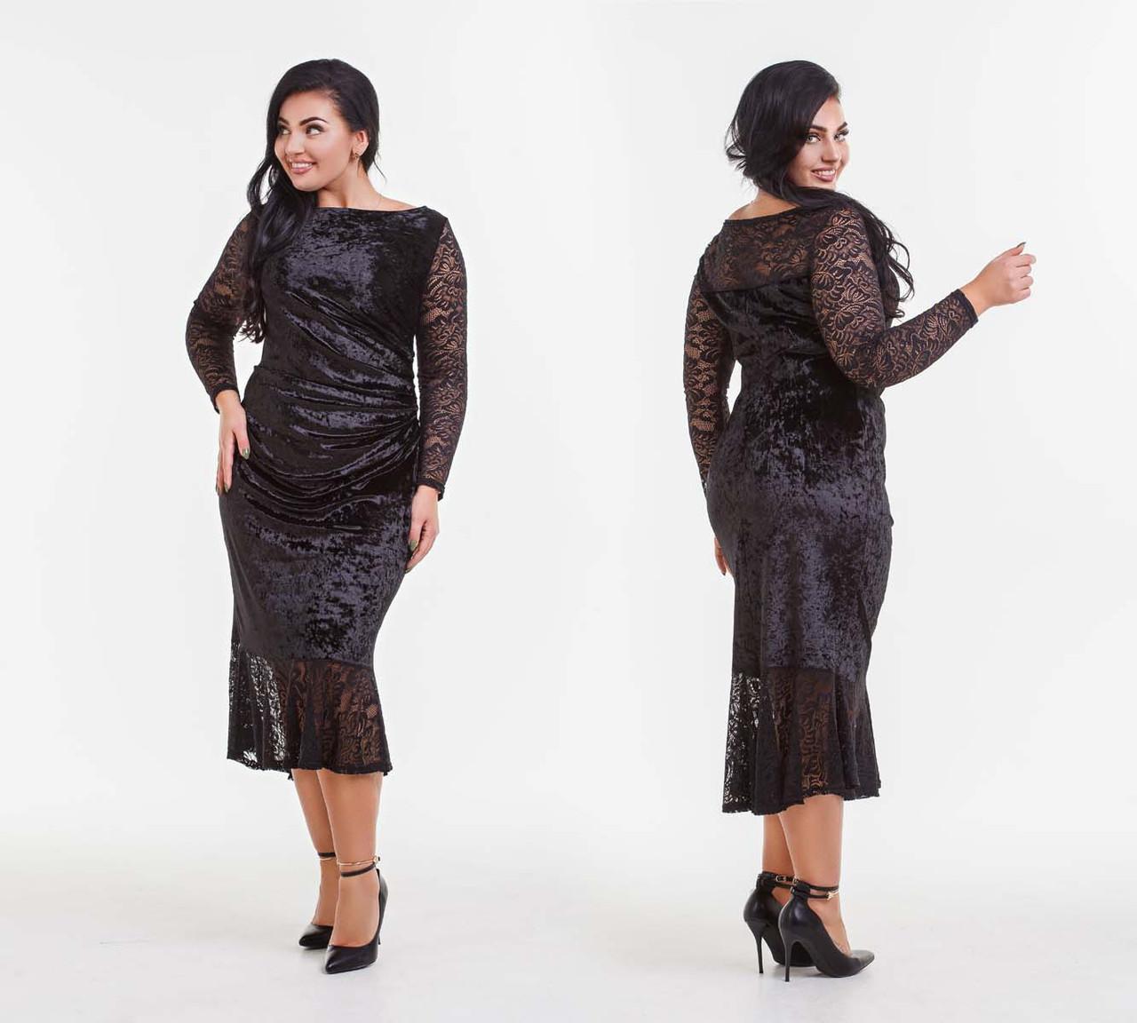 32c8776c55202ef Элегантное вечернее женское платье в больших размерах
