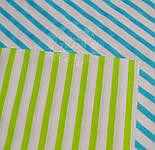 Отрез ткани с полоской 6 мм голубого (бирюзового) цвета (№ 605а), размер 75*160, фото 4