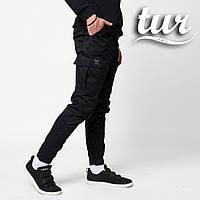 Зауженные карго штаны черные мужские от бренда ТУР Симбиот (Symbiote) размер S, M, L, XL, XXL