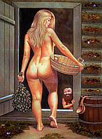 Картина из янтаря. Панно 62