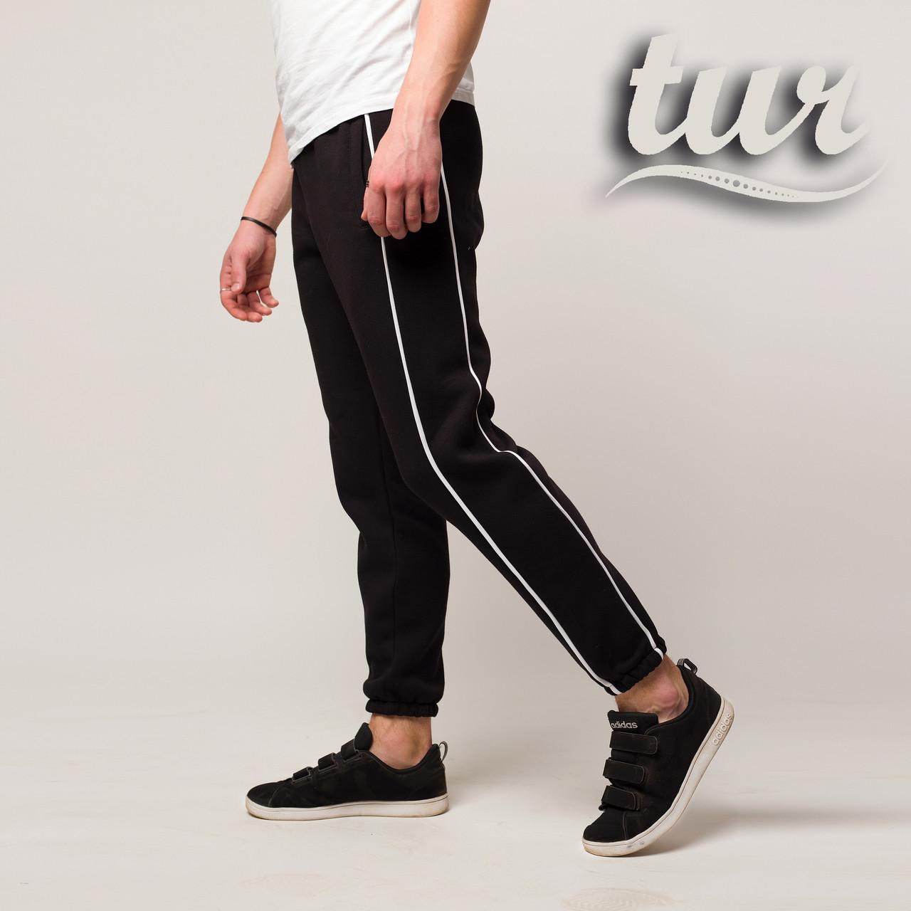 Зимние спортивные штаны мужские чёрные от бренда ТУР модель Сектор (Sector) размер S, M, L, XL