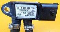 Датчик давления выхлопных газов Nissan Primastar    Sensor 8200469905 BOSCH 0281002772 2001-2014гг