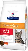 Hills PD Feline C/D Chicken 10кг корм для котов, Ограничевает образование струвитных камней, кристаллов
