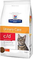 Hills PD Feline C/D Chicken 1,5 кг корм для котов, Ограничевает образование струвитных камней и кристаллов