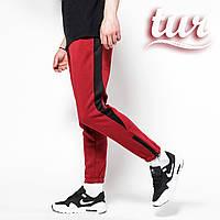 Зимние спортивные штаны мужские бордовые с белой полоской от бренда ТУР  Рокки (Rocky) размер d2b76eb31c9a0