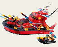 Конструктор детский Brick 906 Пожарная охрана 340 дет.