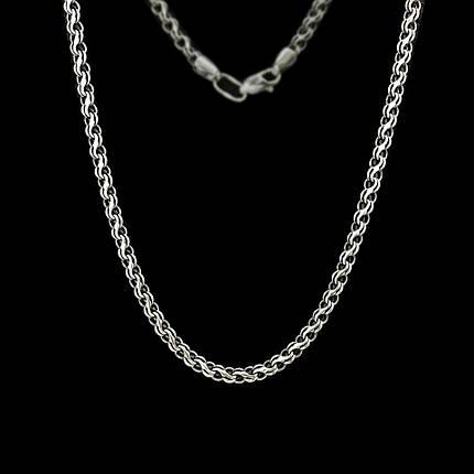 Серебряная цепочка, 550мм, 14 грамм, плетение Ручей, чернение, фото 2