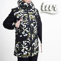 Зимняя куртка парка мужская камо водоотталкивающая Гризли (Grizli) от бренда ТУР размер S, M, L, XL, XXL