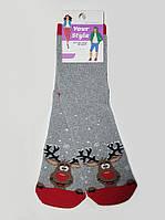 """Носки молодежные махровые """"Олени"""", размер 35-37"""