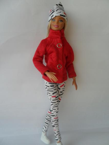 Набор одежды для Барби Игра с модой -  Куртка, легинсы, шапка