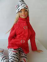 Набор одежды для Барби Игра с модой -  Куртка, легинсы, шапка, фото 3