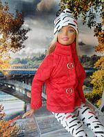 Набор одежды для Барби Игра с модой -  Куртка, легинсы, шапка, фото 2
