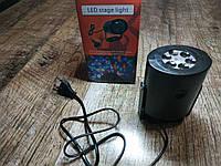 Светодиодный проектор ST7006 12LED light новогодний (снежинки с елочками)