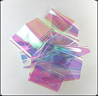 Фольга для дизайна ногтей битое стекло, 20см