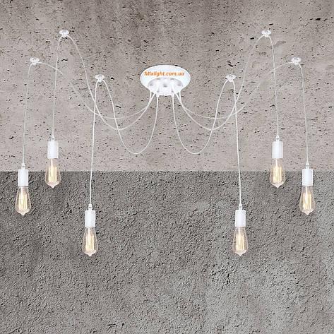 Люстра паук, светильник паук белого цвета на 8 лапок, фото 2