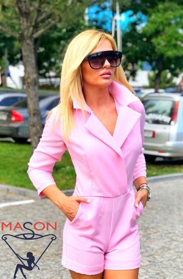 Комбинезон Розовый с  шортами