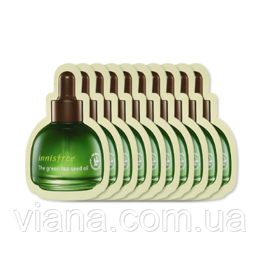 Увлажняющее масло для лица  INNISFREE The Green Tea Seed Oil пробник 1 мл