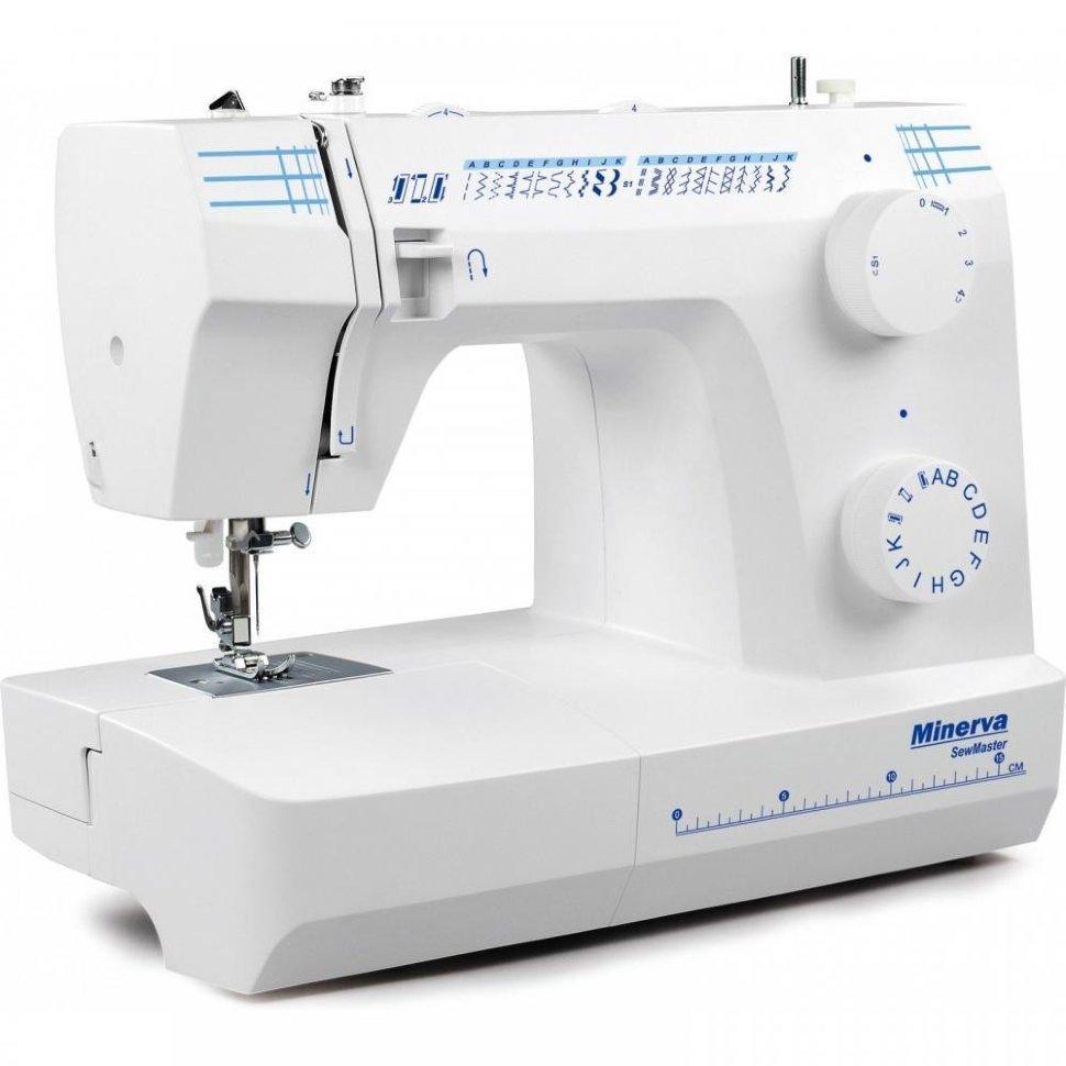 Minerva SewMaster, швейная машина с вертикальным челноком и полуавтоматической петлей, 25 видов строчек