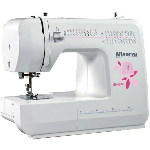 Minerva Style32, швейная машина с горизонтальным челноком и автоматической петлей, 34 вида строчек