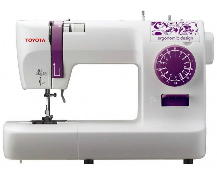 Toyota ECO 15А, швейная машина с горизонтальным челноком и полуавтоматической петлей, 15 видов строчек