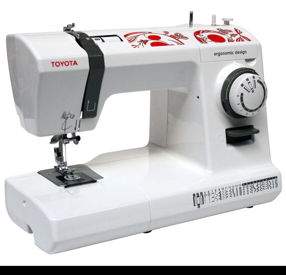 Toyota ECO 26A, швейная машина с горизонтальным челноком и полуавтоматической петлей, 26 видов строчек