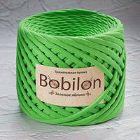 Пряжа трикотажная Bobilon Medium (7-9мм). Зеленое яблоко Bobilon