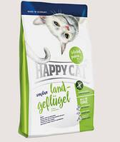Happy Cat Sensitive - сухой корм для взрослых кошек с чувствительным пищеварением с птицей