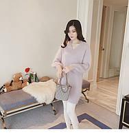 Туника для девушки светло фиолетовая свободного пошива опт, фото 1