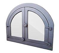 Дверки чугунные Halmat PANAMA3 595X480 со стеклом. Дверцы для печи и барбекю