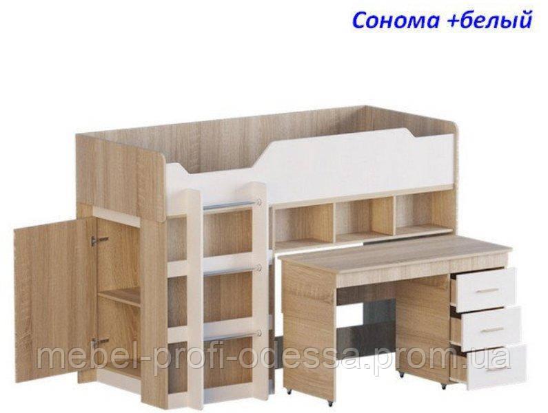 Кровать Чердак-2с выкатным столом Эверест 1932х960х1370