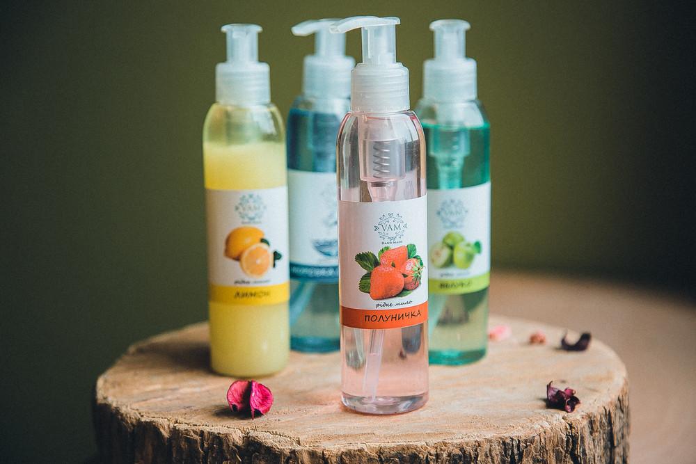 Жидкое мыло ручной работы Клубничка