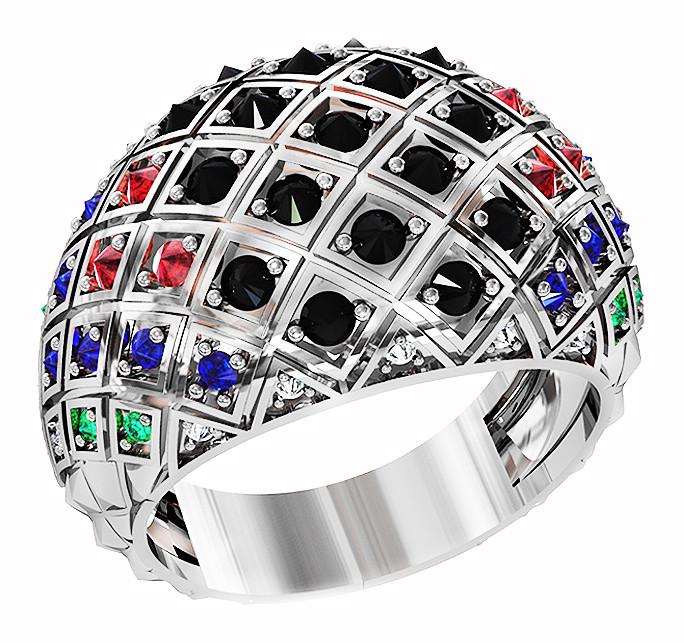 Кольцо  женское серебряное Disco 212 950