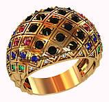 Кольцо  женское серебряное Disco 212 950, фото 2