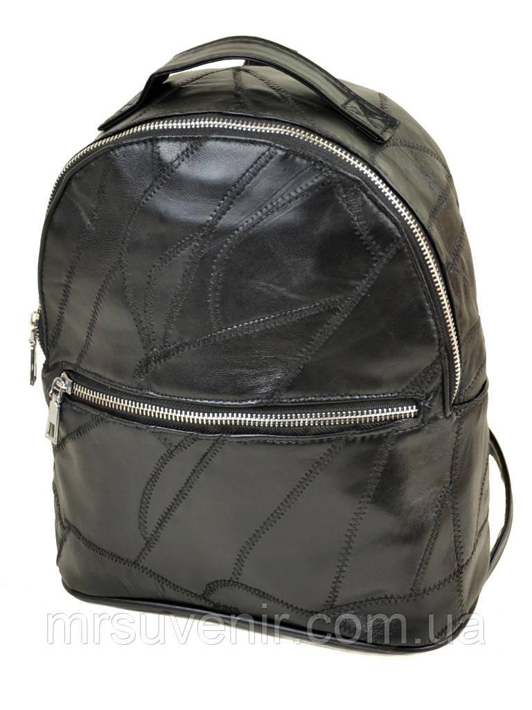 Рюкзак черный женский кожаный код 25-102, цена 345 грн., купить в ... 3d4dbba7bc1