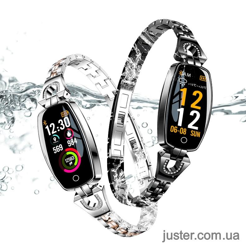 Новинка 2019 Смарт Часы H8 с цветным OLED дисплеем, замером давления и всеми функциями фитнес трекера