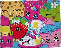 Детский флисовый плед Шопкинс Shopkins 100х150 см - подарок для девочки