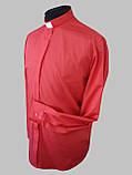 Рубашка для священников  красного цвета с длинным рукавом, фото 2