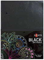 Бумага для рисования черная Santi A4 10 листов (741151)