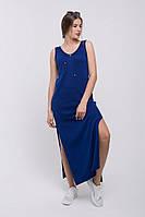 Платье в пол PS439   (42-44, ультрамарин)