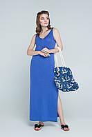 Платье в пол PS439   (46-48, сирень)