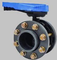 Поворотный дисковый клапан ПВХ Pimtas с фланцами