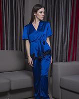 Женская шелковая пижама с французским кружевом 804f99d8d5a75