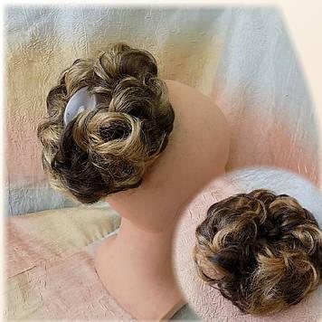 Резинка-шиньон из волос русый милированный 977- 8Н124