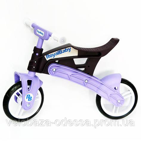 Беговел Real Baby, коричнево-фиолетовый, фото 2